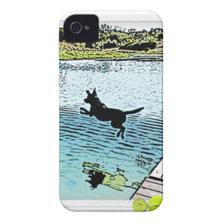 The Dog Days of Summer at the Lake iPhone 4 Case-Mate Case