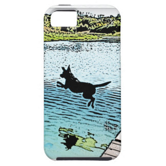 The Dog Days of Summer at the Lake iPhone SE/5/5s Case