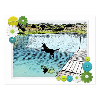 The Dog Days of Summer at the Lake Postcard