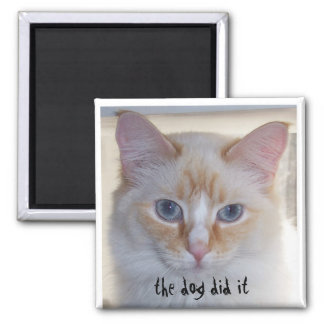 THE DOG DID IT 2 INCH SQUARE MAGNET