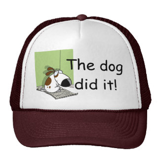 The dog did it hat