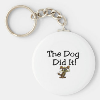 The Dog Did It Keychain