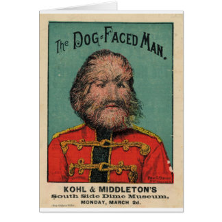 The Dog Faced Man Greeting Cards