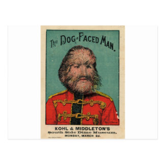 The Dog Faced Man Postcards