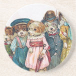 """The Dog Family"" Vintage Beverage Coasters"