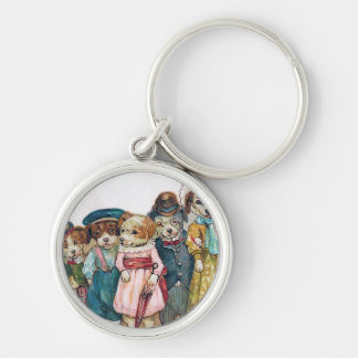 """""""The Dog Family"""" Vintage Key Chain"""