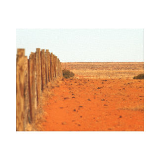 The Dog Fence Canvas Print