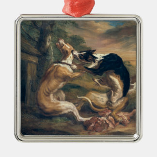 The Dog Fight, 1678 Metal Ornament