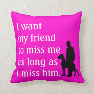 The Dog Friend Throw Pillow
