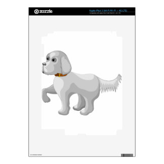 The dog gives paw decals for iPad 3