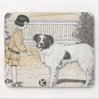 The Dog Has The Ball Mouse Pad