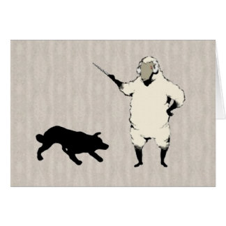 The Dog Herder~A Border Collie Notecard