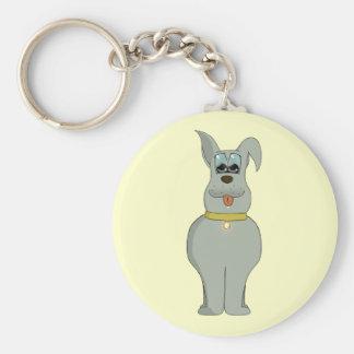 The dog basic round button keychain