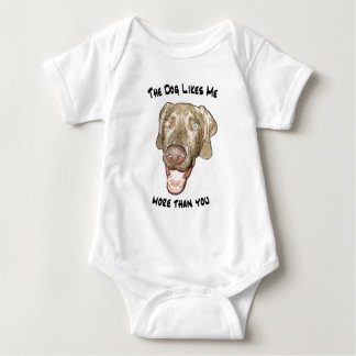 The dog likes me more than you baby bodysuit