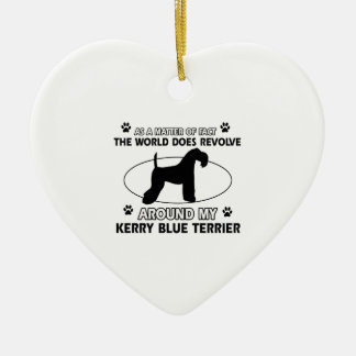 The dog revolves around my KERRY BLUE TERRIER Ceramic Ornament