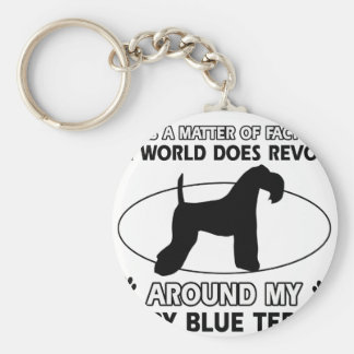 The dog revolves around my KERRY BLUE TERRIER Keychain