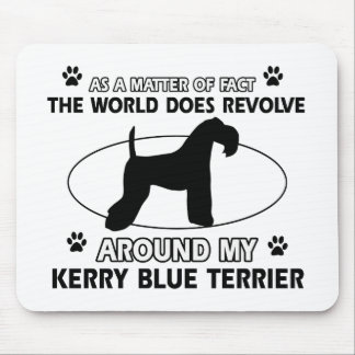 The dog revolves around my KERRY BLUE TERRIER Mouse Pad