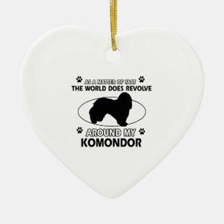 The dog revolves around my KOMONDOR Ceramic Ornament