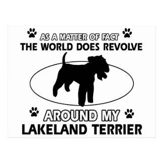 The dog revolves around my LAKELAND TERRIER Postcard
