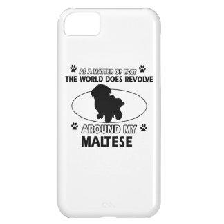 The dog revolves around my maltese iPhone 5C cover