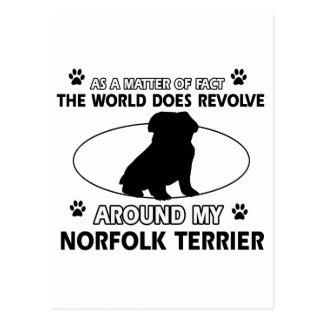 The dog revolves around my Norfolk Terrier Postcard