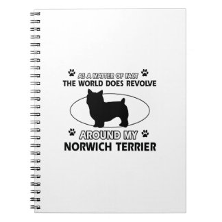The dog revolves around my norwich terrier notebook