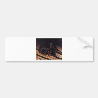 The Dog Rita Asleep by Frederic Bazille Bumper Sticker