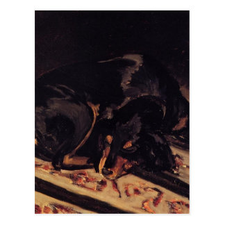 The Dog Rita Asleep by Frederic Bazille Postcard