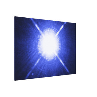 The Dog Star Sirius and its Tiny Companion Gallery Wrap Canvas