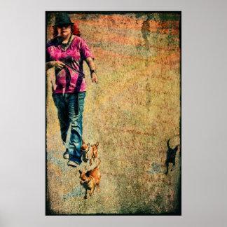 """The Dog Walker"" Print"