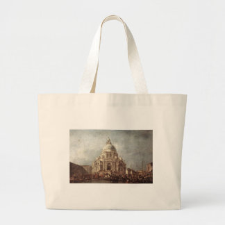 The Doge at the Basilica of La Salute by Francesco Large Tote Bag