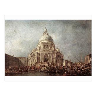 The Doge at the Basilica of La Salute by Francesco Postcard