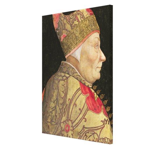 The Doge Francesco Foscari, 1460 Canvas Print