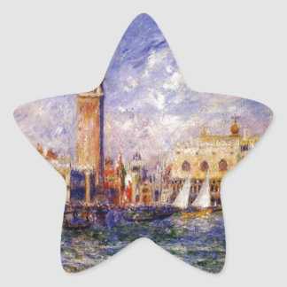 The Doges' Palace by Pierre-Auguste Renoir Star Sticker