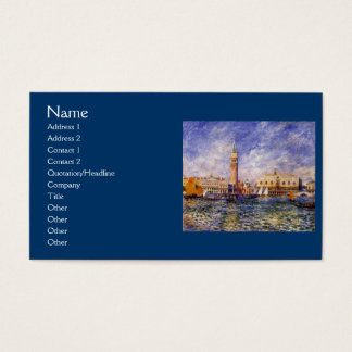 The Doges' Palace by Renoir Business Card