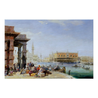 The Doge's Palace from Santa Maria della Poster