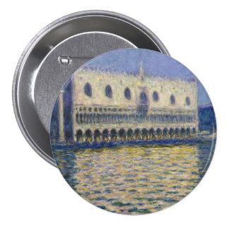 The Doges Palace (Le Palais Ducal) by Claude Monet Pinback Button