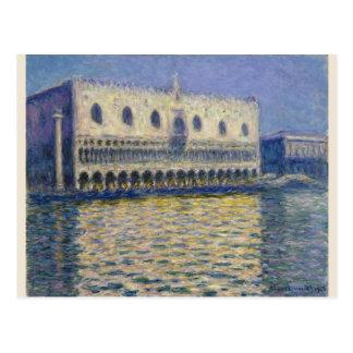 The Doges Palace (Le Palais Ducal) by Claude Monet Postcard