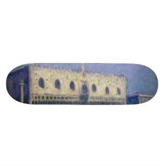 The Doges Palace (Le Palais Ducal) by Claude Monet Skateboard Deck