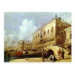 The Doge's Palace, Venice Richard Parkes Bonington Postcard