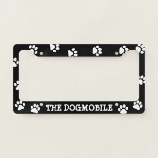 the dogmobile custom dog lovers license plate frame - Dog License Plate Frames