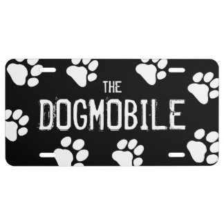 The DOGMOBILE Paw Prints Customizable License Plate
