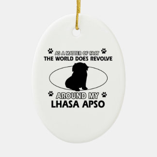 The dogs revolve around my lhasa apso ceramic ornament