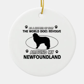 The dogs revolve around my newfounland ceramic ornament