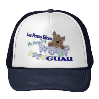 """The Dogs Say """"Woof"""" (blue) Trucker Hat"""