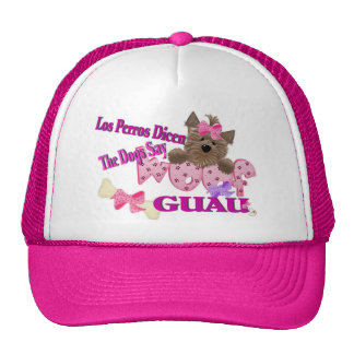 """The Dogs Say """"Woof"""" (Pink) Trucker Hat"""