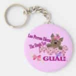"""The Dogs Say """"Woof"""" (Pink) Keychains"""
