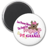 """The Dogs Say """"Woof"""" (Pink) Refrigerator Magnets"""