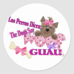 """The Dogs Say """"Woof"""" (Pink) Stickers"""
