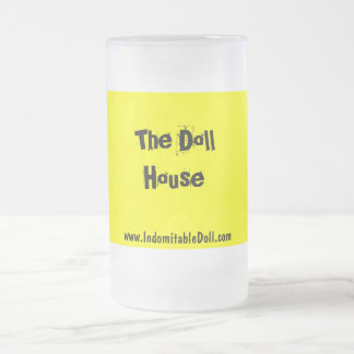 """""""The Doll House"""" Beer Stein 16 Oz Frosted Glass Beer Mug"""